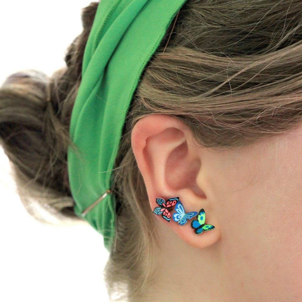 Butterfly Post Earrings | Carolina - Sienna Sky - Coco and Duckie