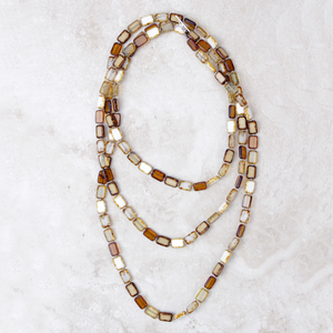 Althea Necklace | White - Coco and Duckie