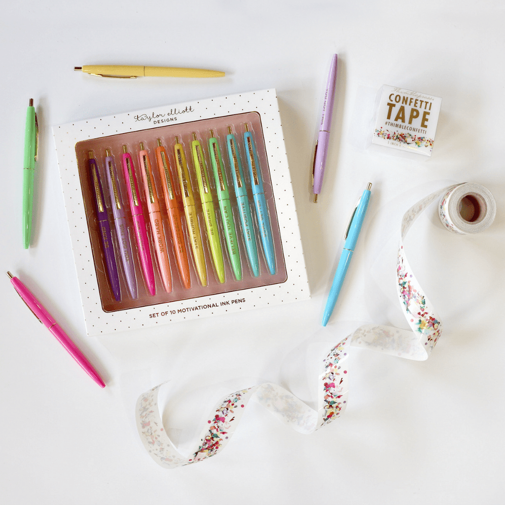 Rainbow Pen Set - Taylor Elliott Designs - Coco and Duckie