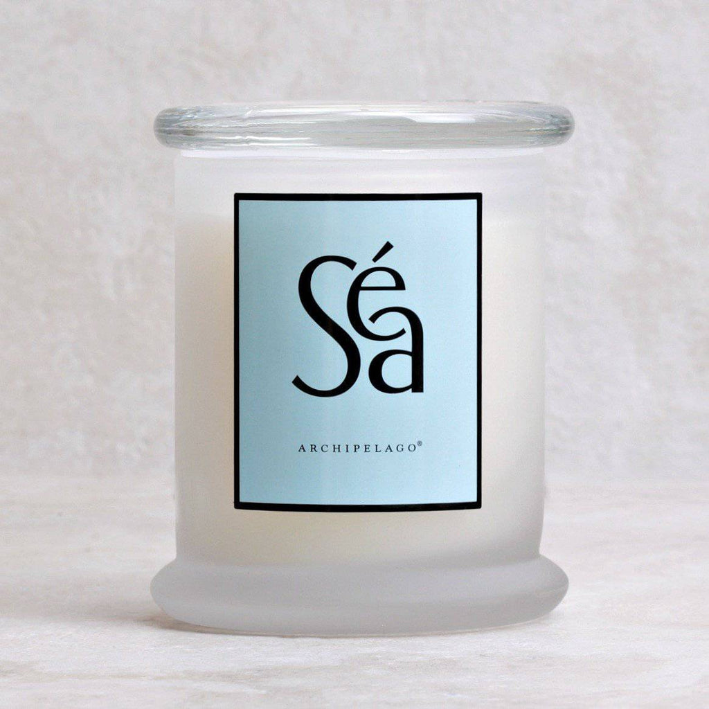 Sea | Archipelago Lidded Glass Candle - Archipelago Botanicals - Coco and Duckie