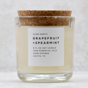 cocoandduckie slow north Grapefruit + Spearmint Candle