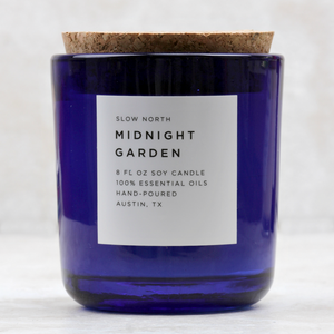 cocoandduckie midnight garden candle by slow north