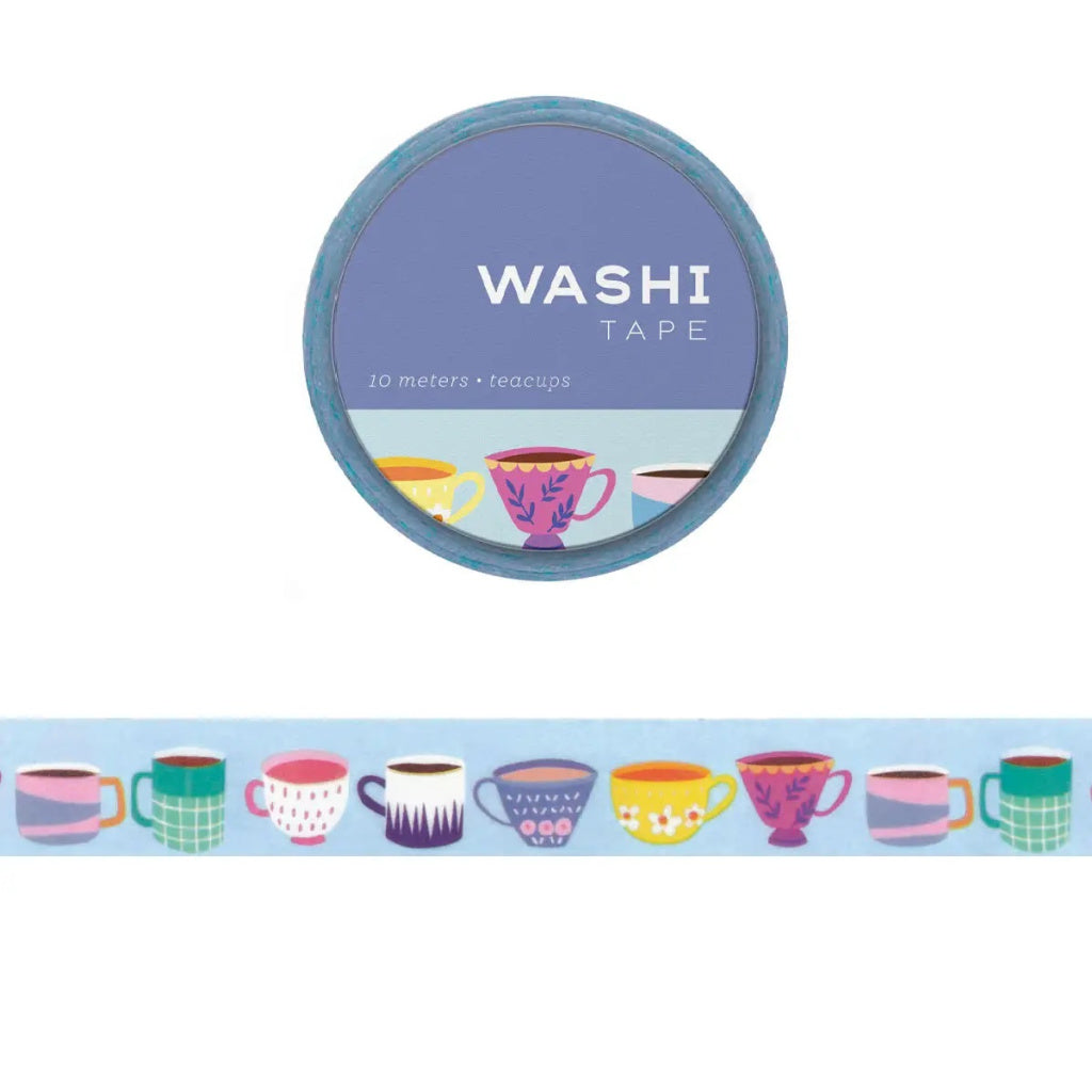 Tea Cups Washi Tape - Girl of All Work - Coco and Duckie