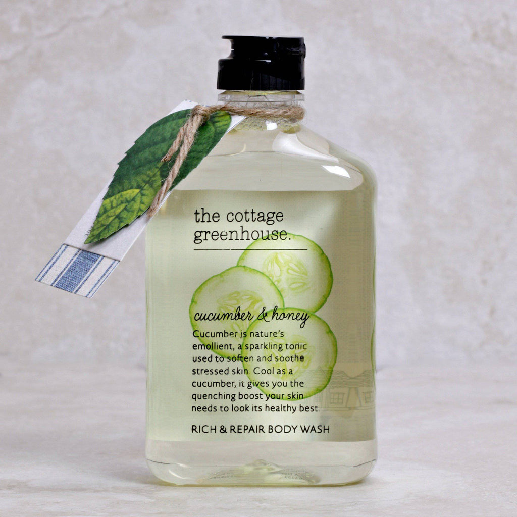 Cucumber & Honey Body Wash - The Cottage Greenhouse - Coco and Duckie