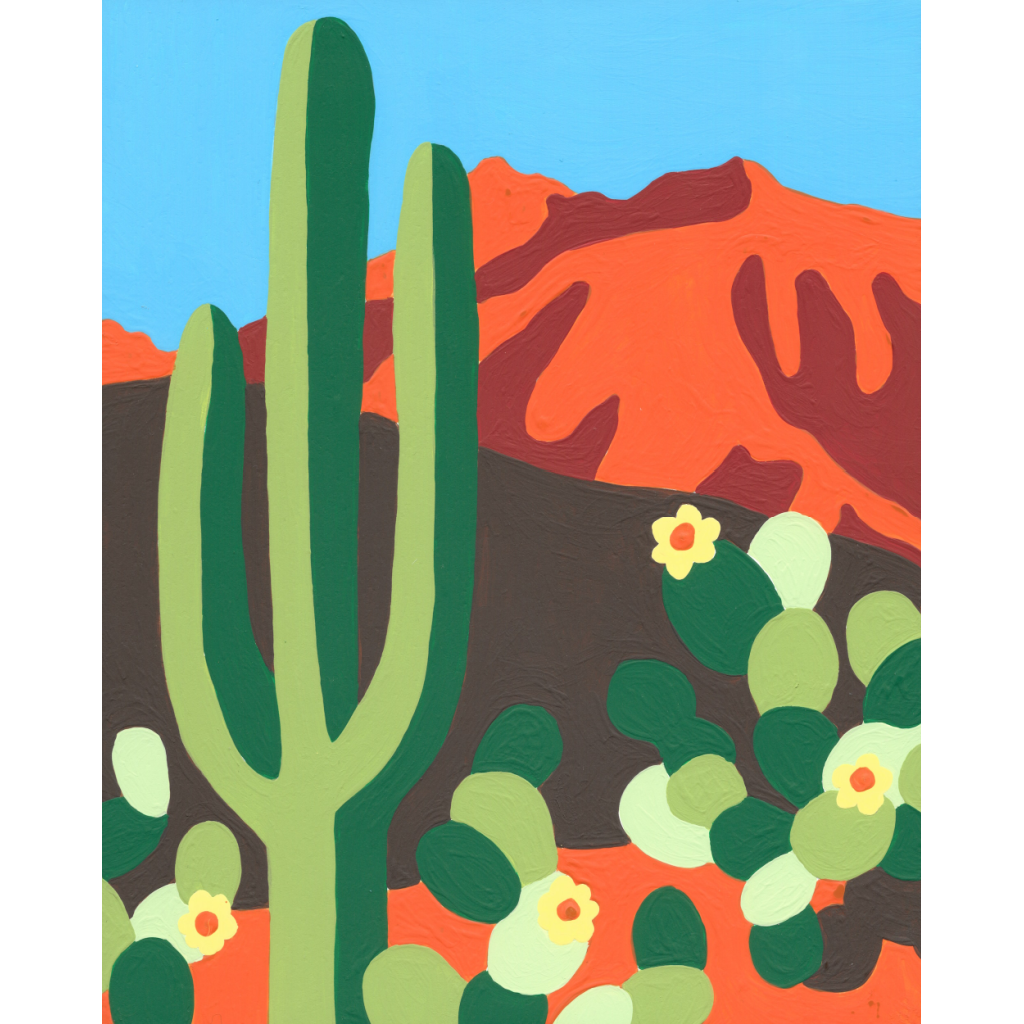 Cactus Paint By Numbers Kit - Wehgo - Coco and Duckie
