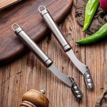 Pepper Corer Stainless Steel Serrated Seed Remover Kitchen Tools