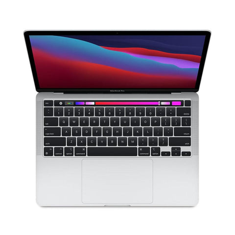 "Apple MacBook Pro 2020 Apple M1 Chip with 8-Core 16GB RAM 256GB SSD 13.3"" 8 Core GPU Touch Bar & Touch ID SILVER - 961souq.com"