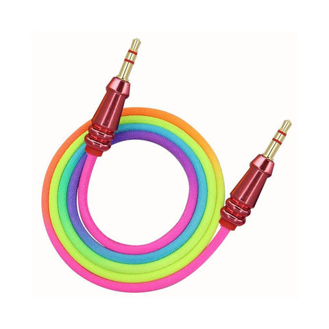 AUX Rainbow Cable 3.5MM