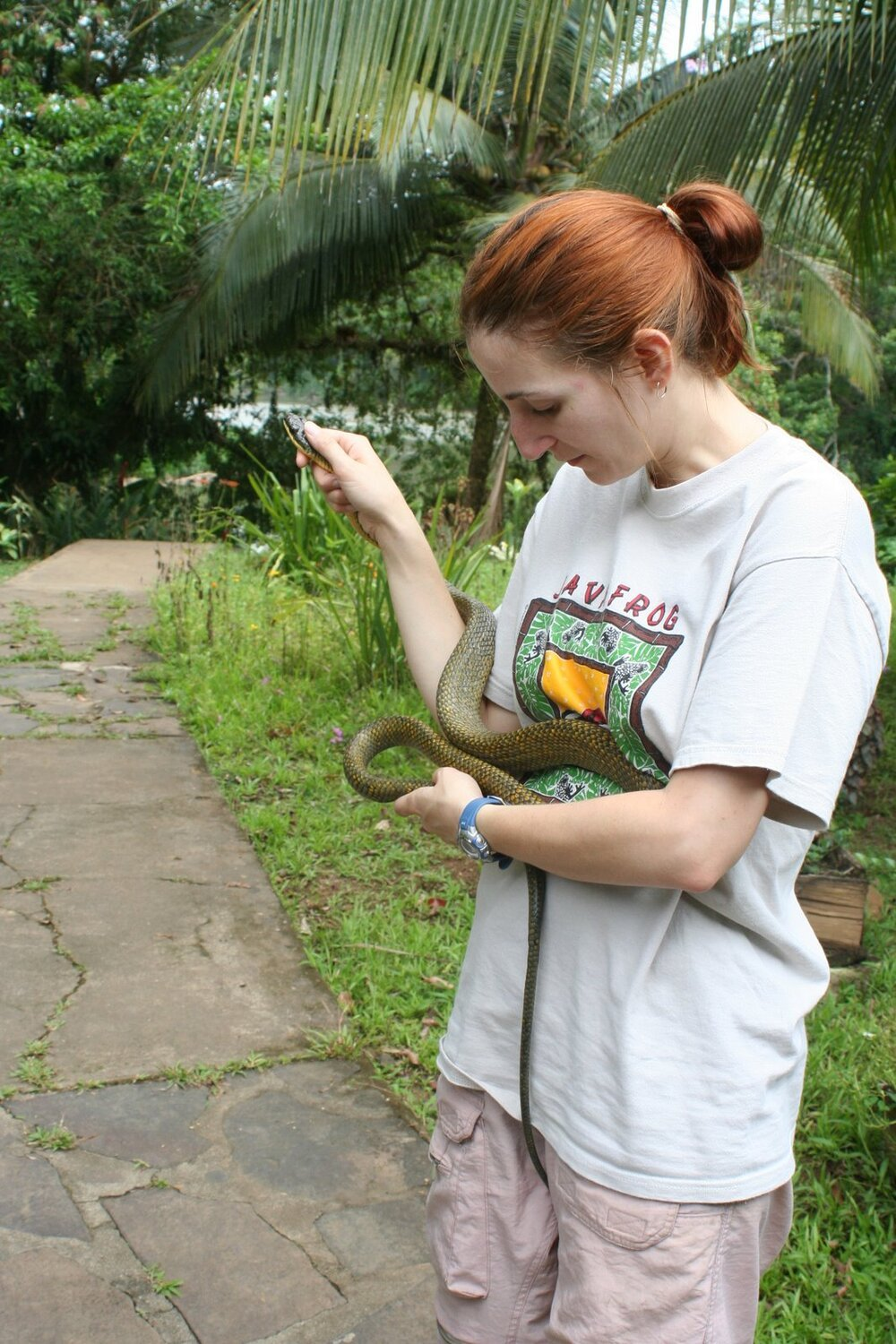 Kris with snake