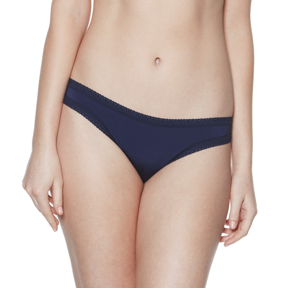 Pretty Little Panties - microfiber thong panties - navy - Blush Lingerie - Max and Me Sport