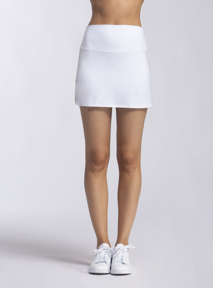 White High Waist Skort - white tennis skirt - Wear it to Heart - WITH - Max and Me Sport