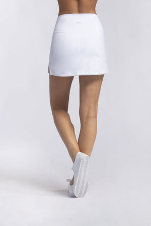 Load image into Gallery viewer, High Waist Skort - White - MAX & ME SPORT
