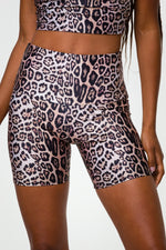 high rise leopard biker shorts - Onzie - Max and Me Sport