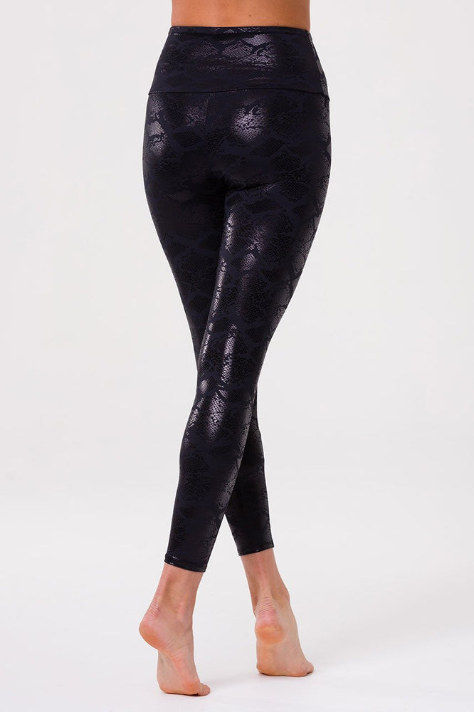 Foil Midi Legging - Black Snake - Onzie New Arrivals