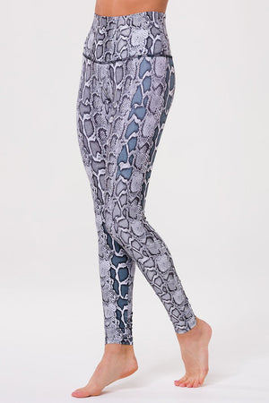black white viper high rise legging - onzie - max and me sport