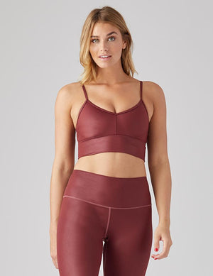 Load image into Gallery viewer, Premier Bra - Oxblood Gloss - MAX & ME SPORT