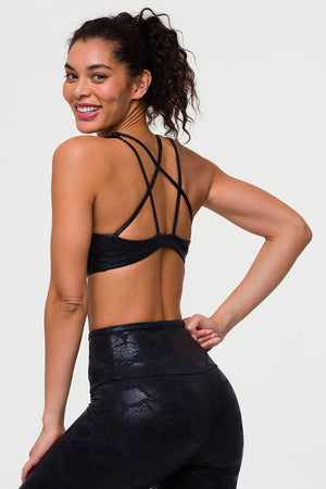Load image into Gallery viewer, Mudra Bra - Black Snake - MAX & ME SPORT
