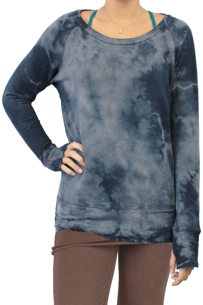 Organic Raw Pullover - Midnight Navy Crystal Wash - MAX & ME SPORT