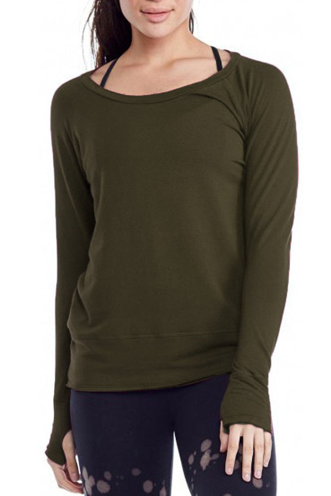 Load image into Gallery viewer, Organic Raw Pullover - Olive - LVR Clearance