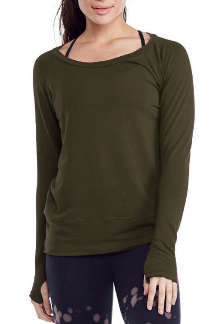 Organic Raw Pullover - Olive
