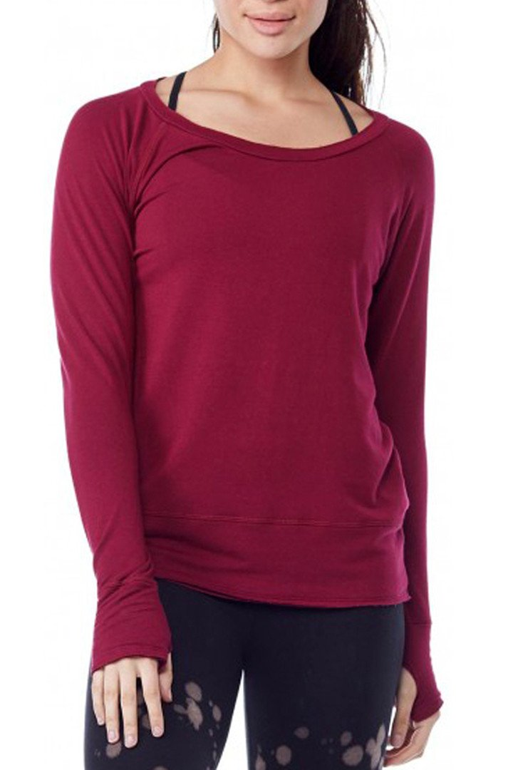 Organic Raw Pullover - Cranberry