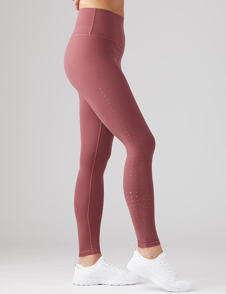 Load image into Gallery viewer, Amp Legging - Oxblood - High Waist - Laser Cut - Glyder - MAX & ME SPORT