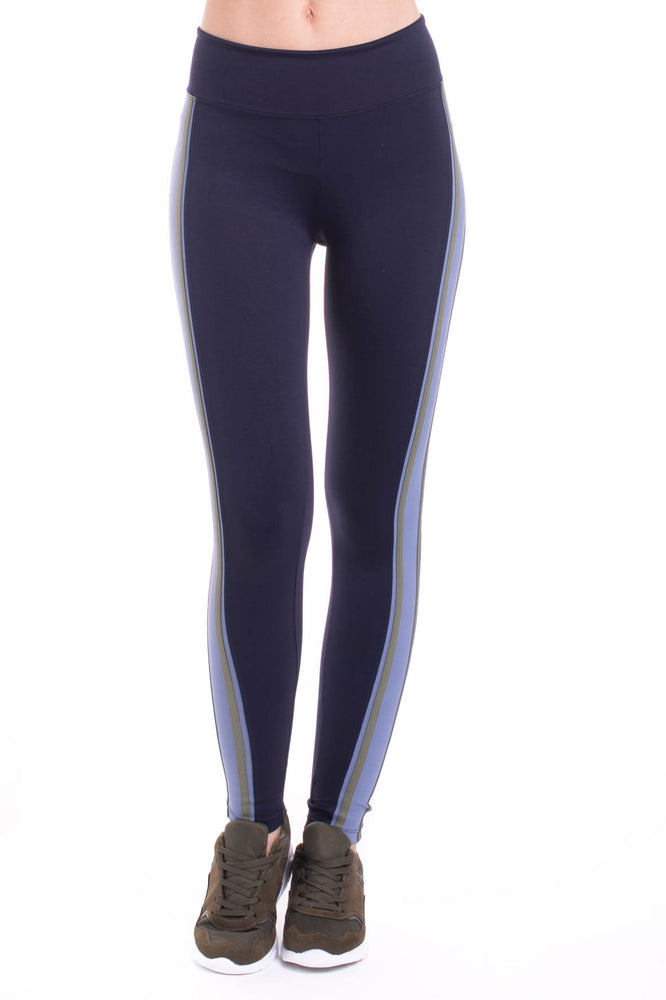 Miss Behave Legging - Moss Stripe - MAX & ME SPORT