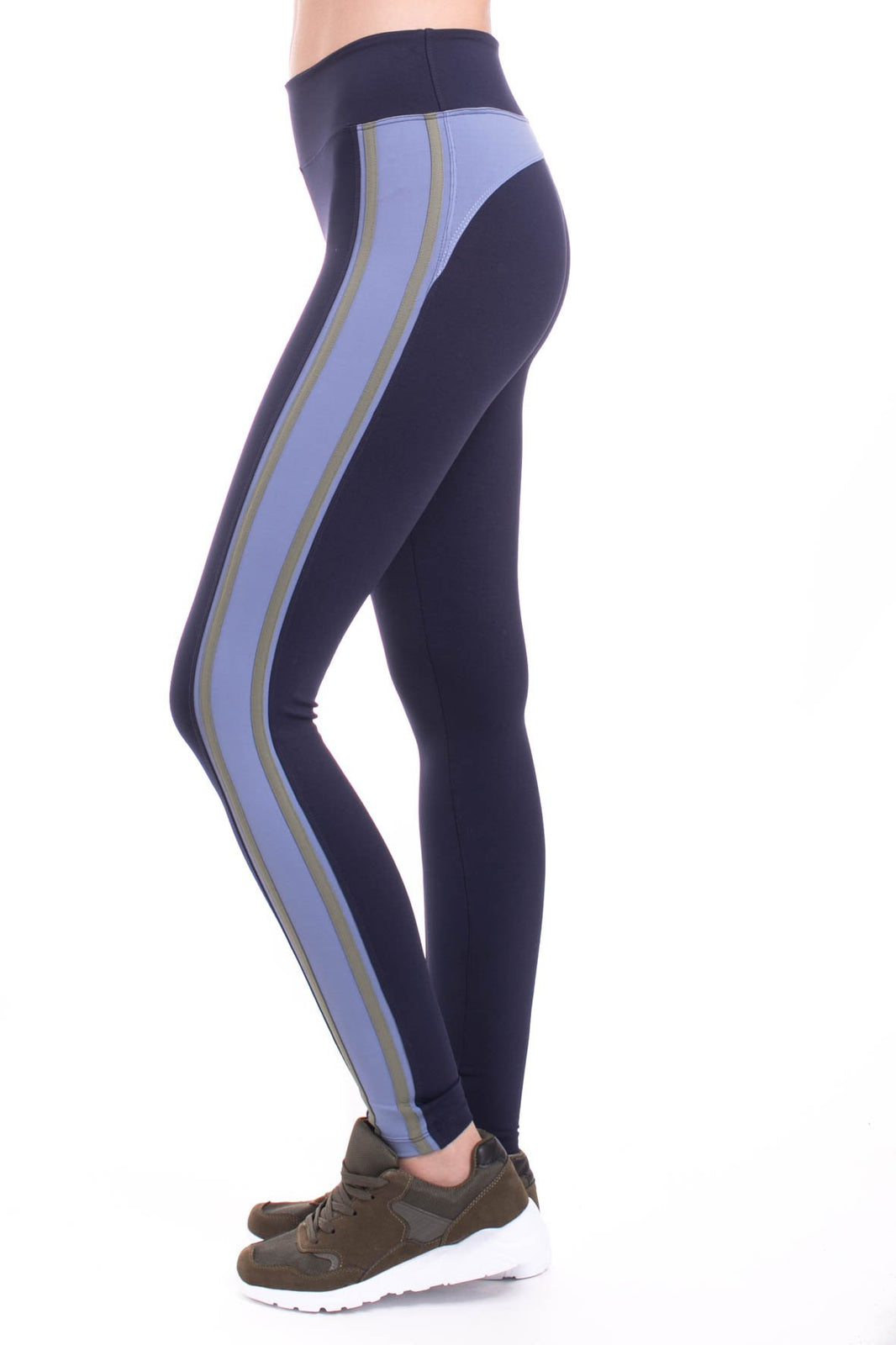 Miss Behave Legging - Moss Stripe