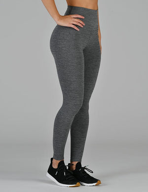 High Waist Pure Legging - Stone Heather - MAX & ME SPORT