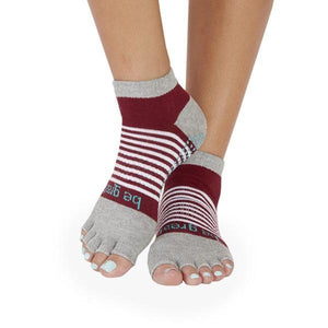 BE GREAT 1/2 Toe Stripe Grip Socks - Sticky Be Socks Socks