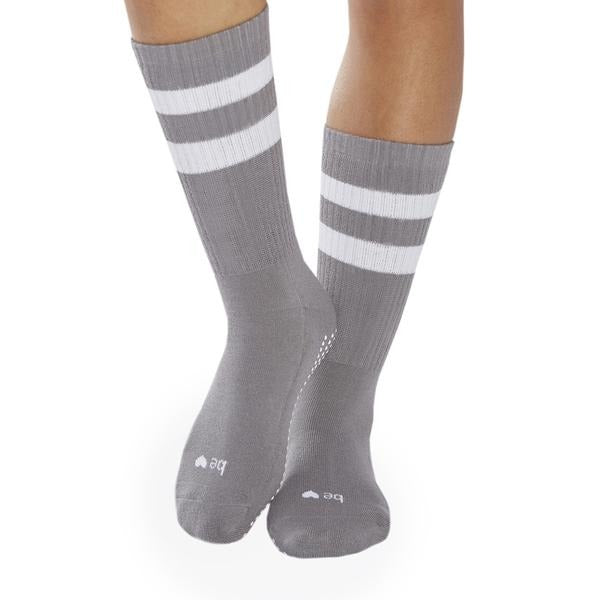 Crew BE LOVE Grip Socks - Dark Grey/White