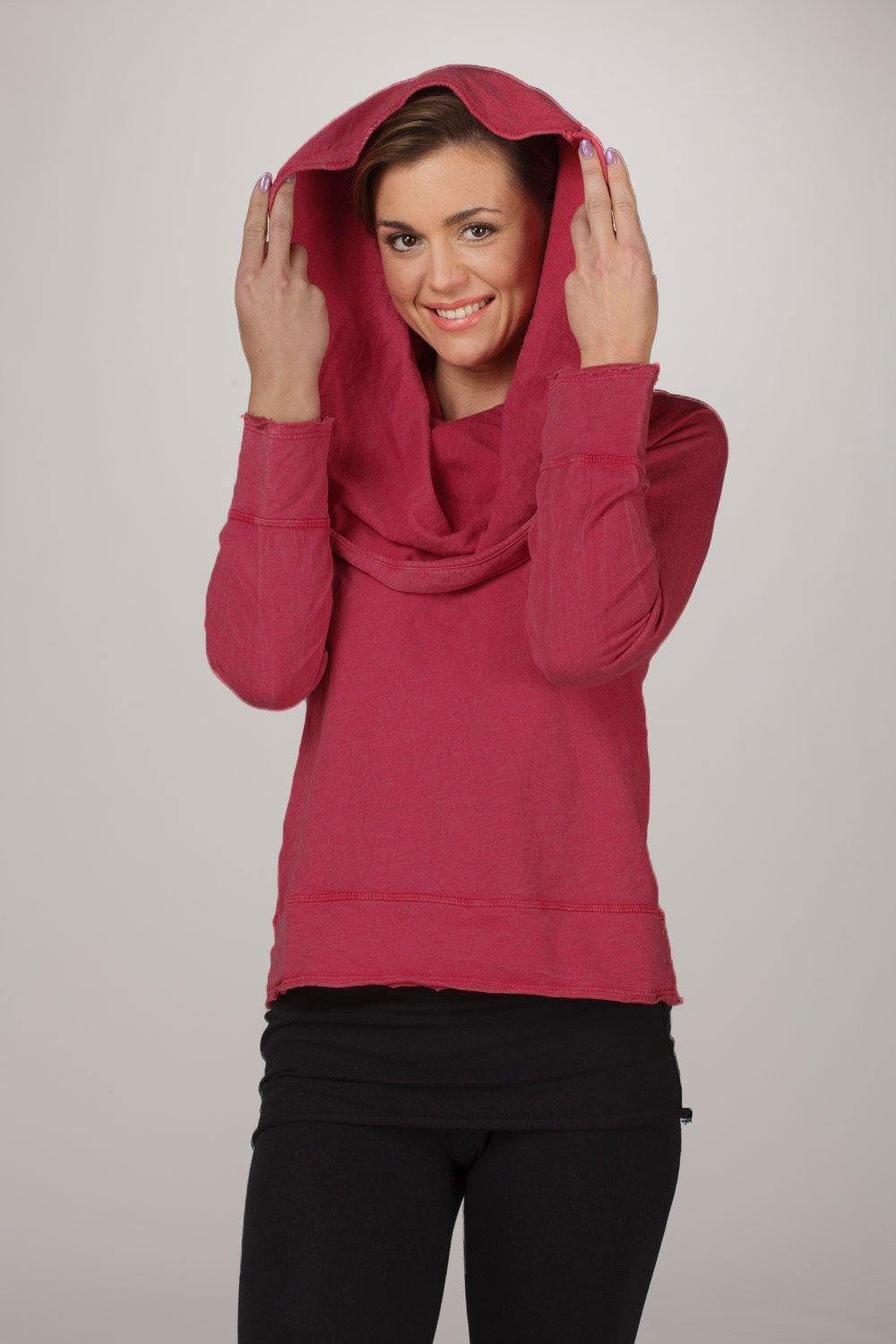 Long Sleeve Cowl Neck Pullover Hoody