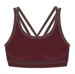 Burgundy Strappy Bra - Wear it to Heart - WITH - Max and Me Sport