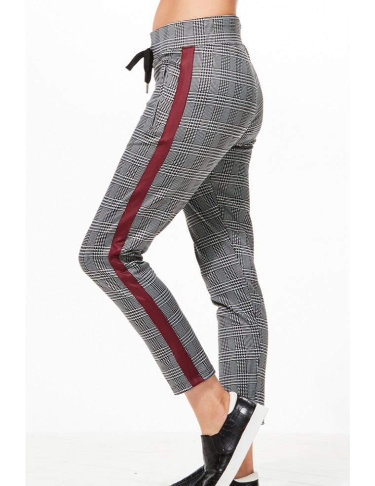Amia Plaid Trouser - CHICHI Active Clearance