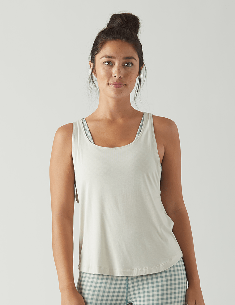 Load image into Gallery viewer, Charm Tank - Creme - MAX & ME SPORT