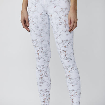 Rose Gold Marble Printed Tight - MAX & ME SPORT