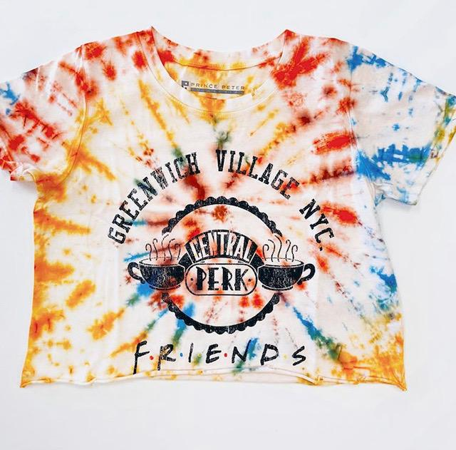 Friends Greenwich Village Tie Dye Crop Top - Prince Peter Clearance