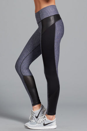 Load image into Gallery viewer, Gwen Herringbone Legging - Navy - MAX & ME SPORT