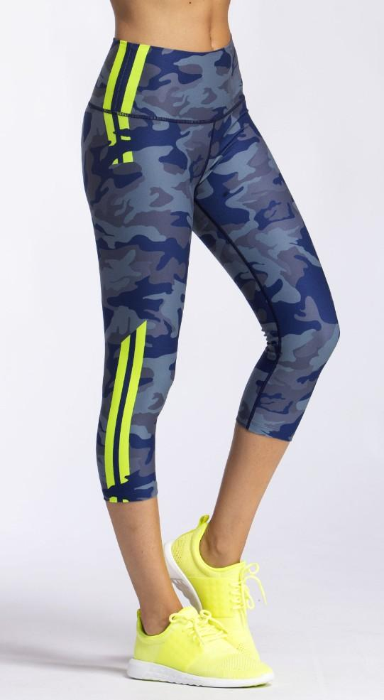 Slate Camo High Waist Capri - WITH Sale