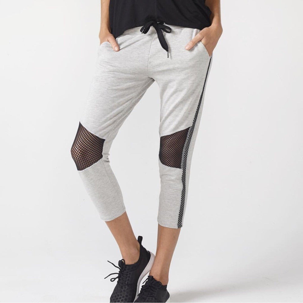 Load image into Gallery viewer, Michelle Cropped Moto Jogger - Heather Grey - MAX & ME SPORT