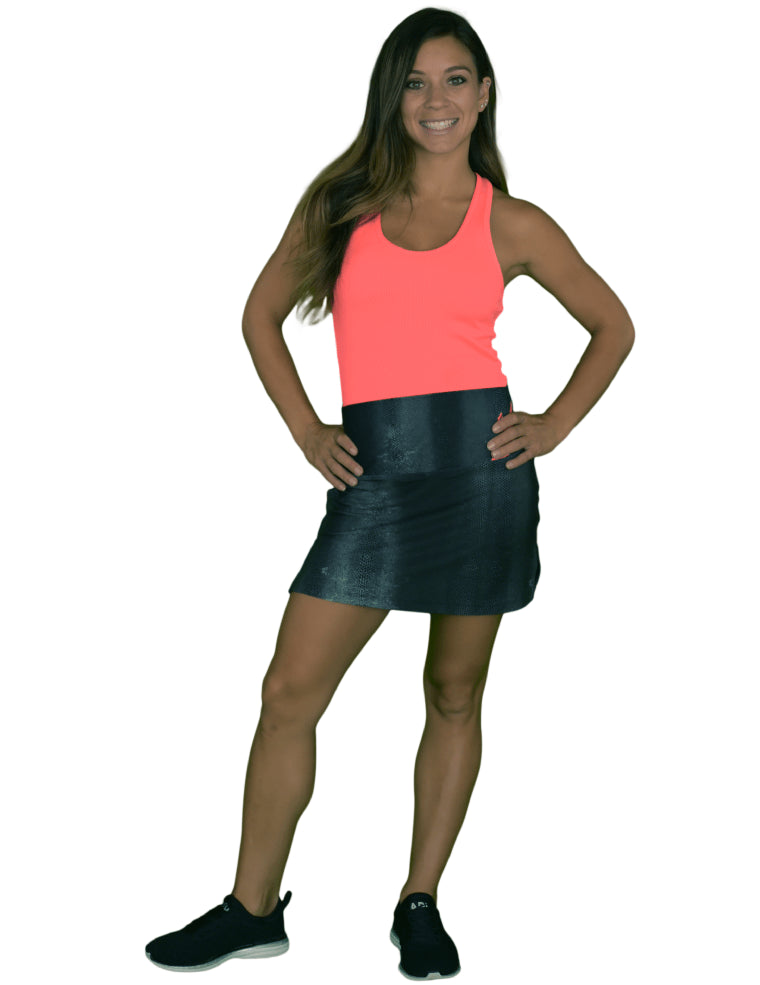 Adder Black High Waist Skort
