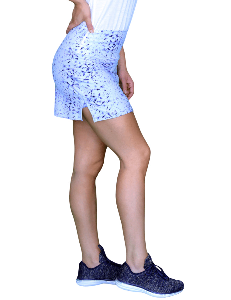 Itajime White High Waist Skort