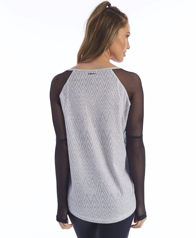 Cyrus Pullover - Grey Zig Zag - Lukka Lux Clearance