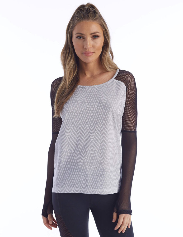 Load image into Gallery viewer, Cyrus Pullover - Grey Zig Zag - MAX & ME SPORT