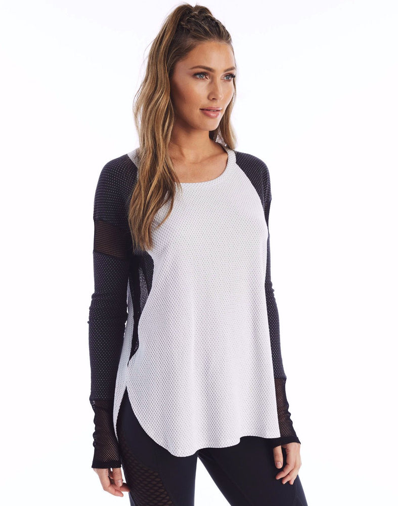 Load image into Gallery viewer, Purgos Long Sleeve - Optic White/Black Onyx Dot - MAX & ME SPORT