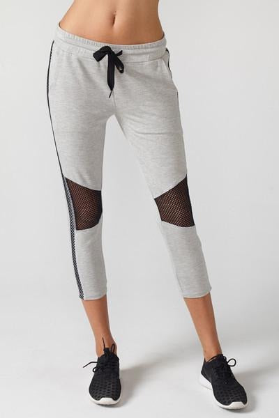 Michelle Cropped Moto Jogger - Heather Grey - MAX & ME SPORT
