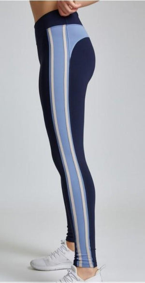 Load image into Gallery viewer, Miss Behave Legging - Nude Stripe - MAX & ME SPORT