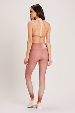 Load image into Gallery viewer, Cactus Rose Dip Dye High Waist Legging-New Arrivals-Niyama Sol-MAX & ME SPORT