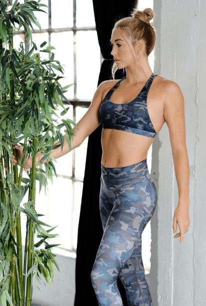 Camo High Waisted Legging-Leggings-Niyama Sol-MAX & ME SPORT
