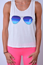 Surfer Girl Muscle Tank - rie+ryn Clearance